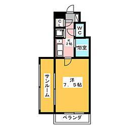高針ビル[4階]の間取り