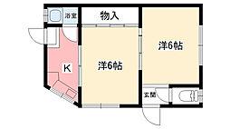 寺井文化[minami号室]の間取り