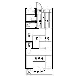 東京都練馬区練馬の賃貸アパートの間取り
