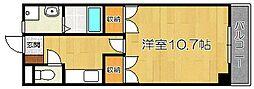 福岡県福岡市東区蒲田1丁目の賃貸マンションの間取り