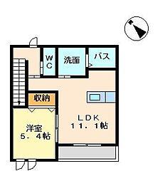 サンハイツ 奈良[202号室]の間取り