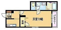 Osaka Metro谷町線 都島駅 徒歩1分の賃貸マンション 1階1Kの間取り