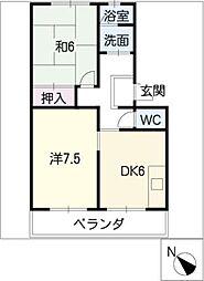 六軒屋農住団地松山コーポ(5〜8)[2階]の間取り