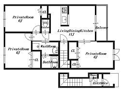 プラシードセレノC棟[2階]の間取り