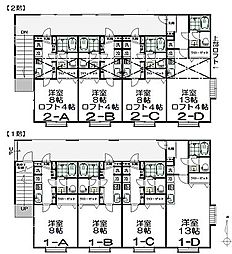 仙台市地下鉄東西線 国際センター駅 徒歩4分の賃貸アパート 1階ワンルームの間取り