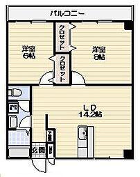 レジデンス横浜鶴見[4階]の間取り