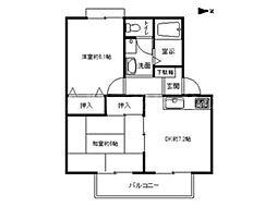 香川県高松市香西南町の賃貸マンションの間取り