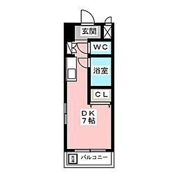 ロワイヤル・モア[1階]の間取り