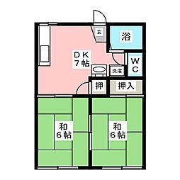 フォーブル21[1階]の間取り