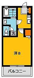 カーサユーカリB[2階]の間取り