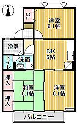 メゾン栄町Ⅱ[203号室]の間取り