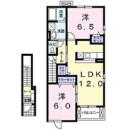 メゾン ド ラフレシ−ル A[2階]の間取り