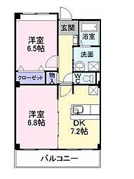 大阪府堺市北区野遠町の賃貸マンションの間取り