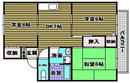 ファミリーハイツT・Y[2階]の間取り