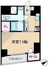東京都北区西ケ原1丁目の賃貸マンションの間取り