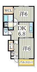 ポンム・ド・テールII[1階]の間取り