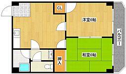 阪下ハウスマンションB棟[1階]の間取り