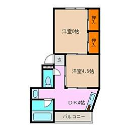 平野マンション[101号室]の間取り