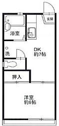 東京都東大和市向原5丁目の賃貸アパートの間取り