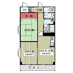 アビリティ新川崎[205号室]の間取り