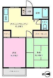 千葉県船橋市二和西6丁目の賃貸アパートの間取り