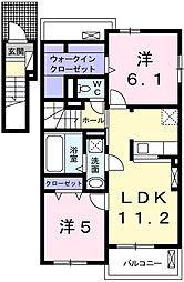 フリーデⅡ[2階]の間取り