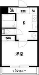 F5ハクジュハウス[203号室]の間取り