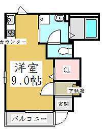 埼玉県川口市飯塚2丁目の賃貸アパートの間取り