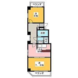 レインボー千代田橋[6階]の間取り