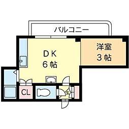 北海道札幌市北区北十七条西2丁目の賃貸アパートの間取り