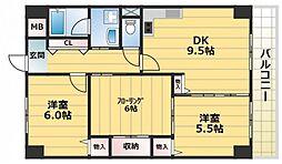 さんさん吉田[2階]の間取り