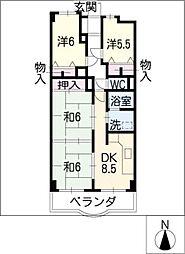 ナリタビル[4階]の間取り