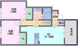 シンシア[1階]の間取り