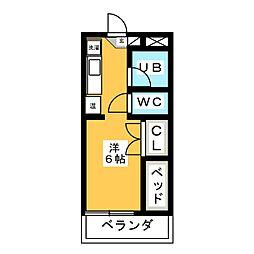 ピエ・タ・テール杉山[1階]の間取り