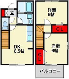 Bambini沖田[2階]の間取り