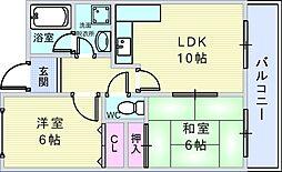 LOVVE豊中[2階]の間取り
