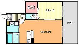 山清庵[1階]の間取り