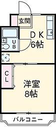 マンションシマノI[201号室]の間取り