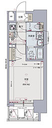 Osaka Metro千日前線 阿波座駅 徒歩6分の賃貸マンション 13階1Kの間取り