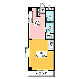 コーポ神野[2階]の間取り