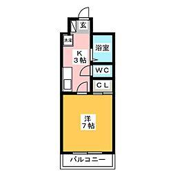エクセル大橋[6階]の間取り