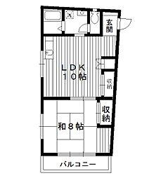 東京都板橋区小茂根5丁目の賃貸アパートの間取り