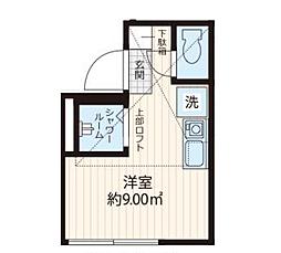 Studio Apartment 東池袋 ~スタジオアパートメント東池袋~ 2階ワンルームの間取り