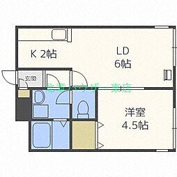 LEE SPACE 栄町(リースペース サカエマチ)[2階]の間取り