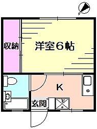 シャングリラ壱番館[1階]の間取り