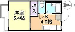 ウイングJUN[2階]の間取り