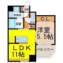 Comfort大曽根(コンフォート大曽根)[6階]の間取り