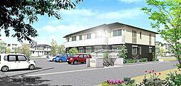 岡山県岡山市北区白石の賃貸アパートの外観