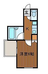 カンパネーラ小田急相模原2[2階]の間取り