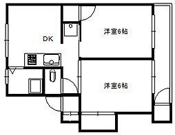 埼玉県富士見市鶴瀬西3丁目の賃貸マンションの間取り